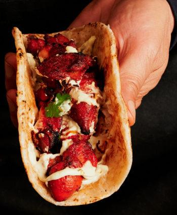 kathi roll – chicken tikka paratha roll